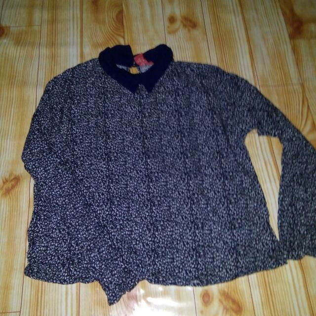 Collar Top Elips Navy