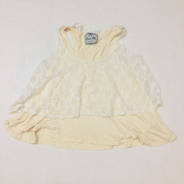 Creme Lace Top