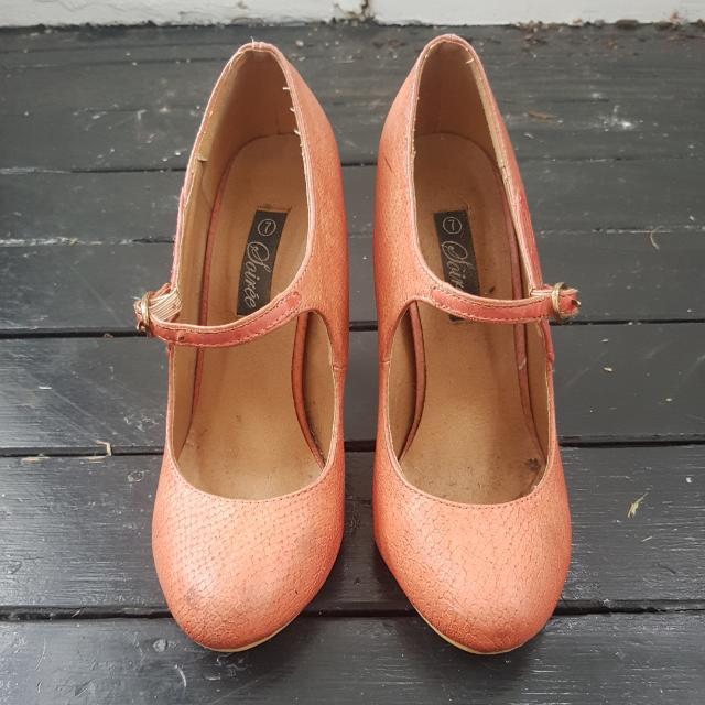 Cute Salmon Pink Heels s7