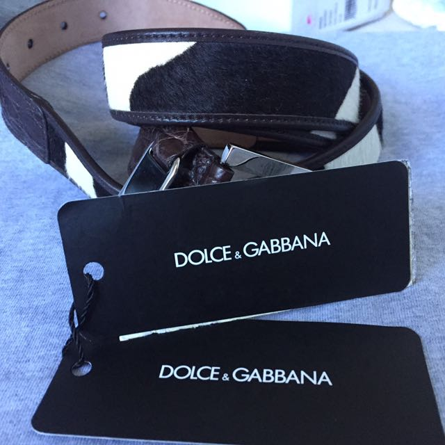 Dolce & Gabbana Pony Leather Belt