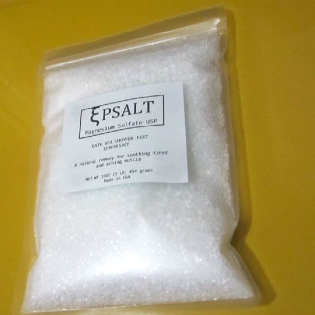 Epsom Salt 100% natural 1 LB magnesium sulfate USP made in USA