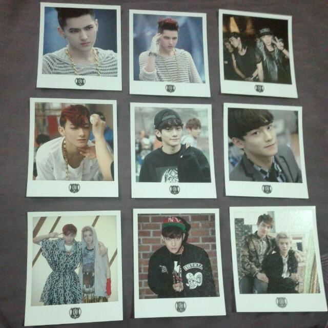 SALE! EXO Polaroid Cards