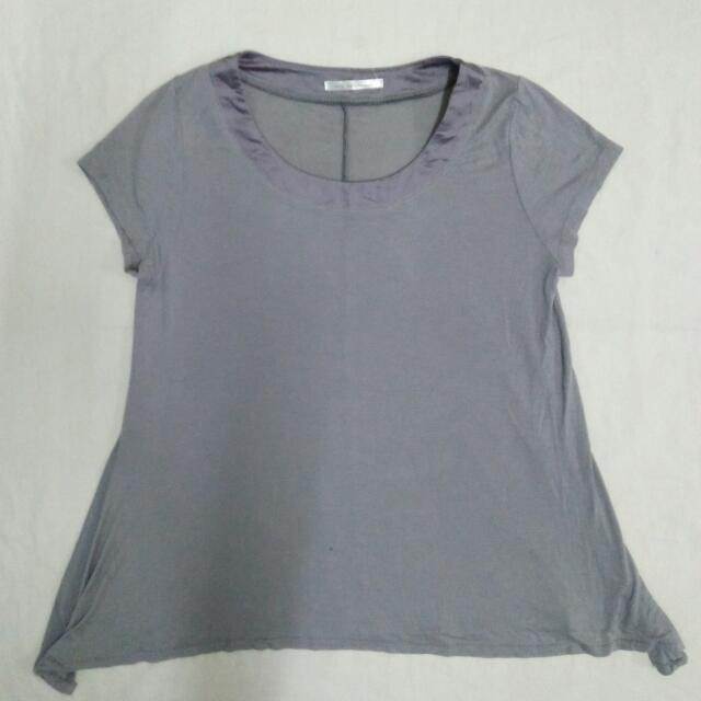 Branded Gray Loose Top