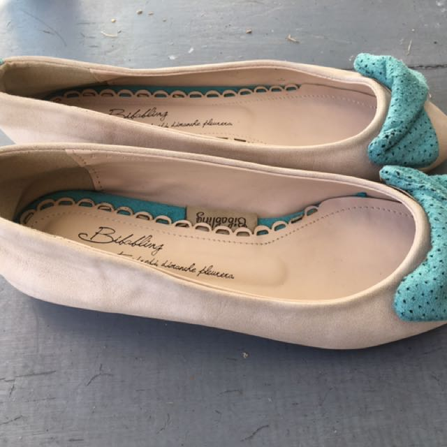 Green Bow Cover Toe Shoes