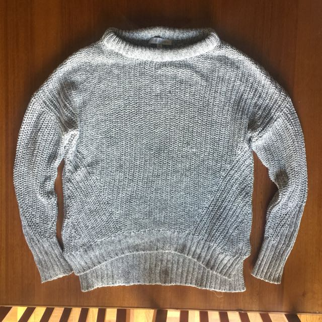 Grey Forever New Oversized Knit Jumper