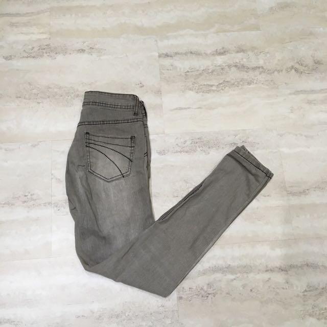 Grey Super Skinny Jeans