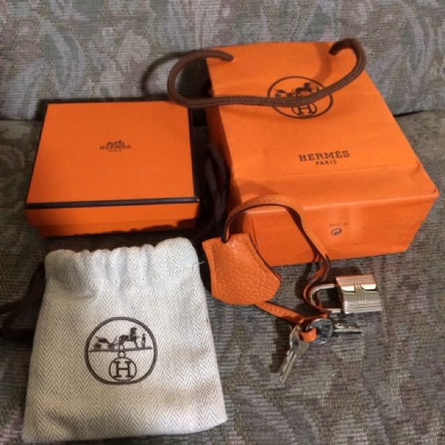 Guaranteed Authentic Hermes Clochette Padlock And Key