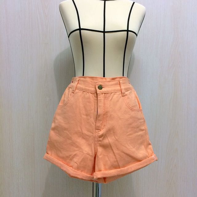 High Waist Baby Orange Pants
