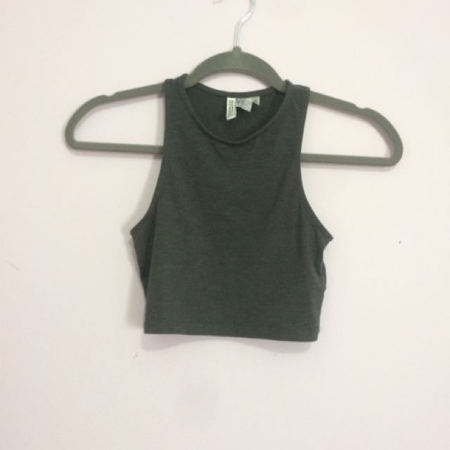 H&M Grey Cropped Top