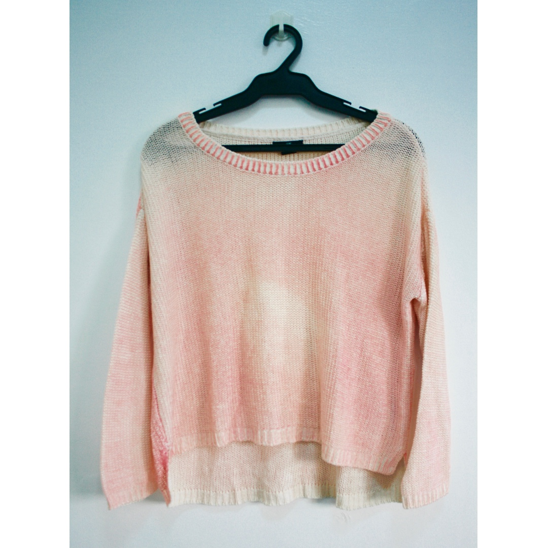 H&M Pink Ombre Loose Knitted Top