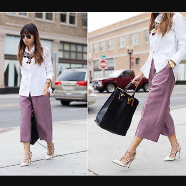 H&M Wide Leg Culottes Eu 36 Aus 8