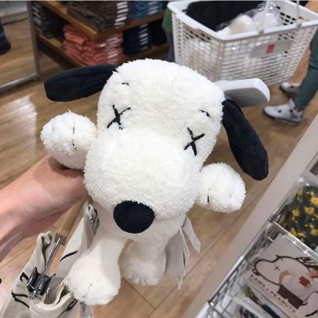 Kaws x Uniqlo x Snoopy 聯名 玩偶 優衣庫 史努比