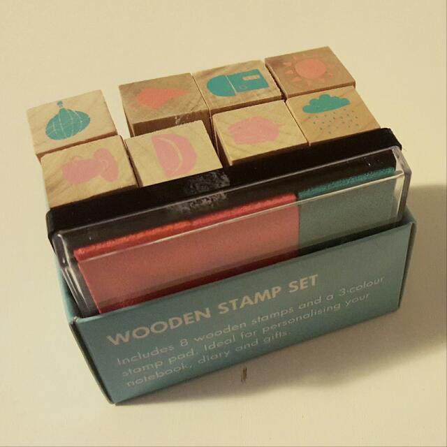 Kikki K Wooden Stamp Set