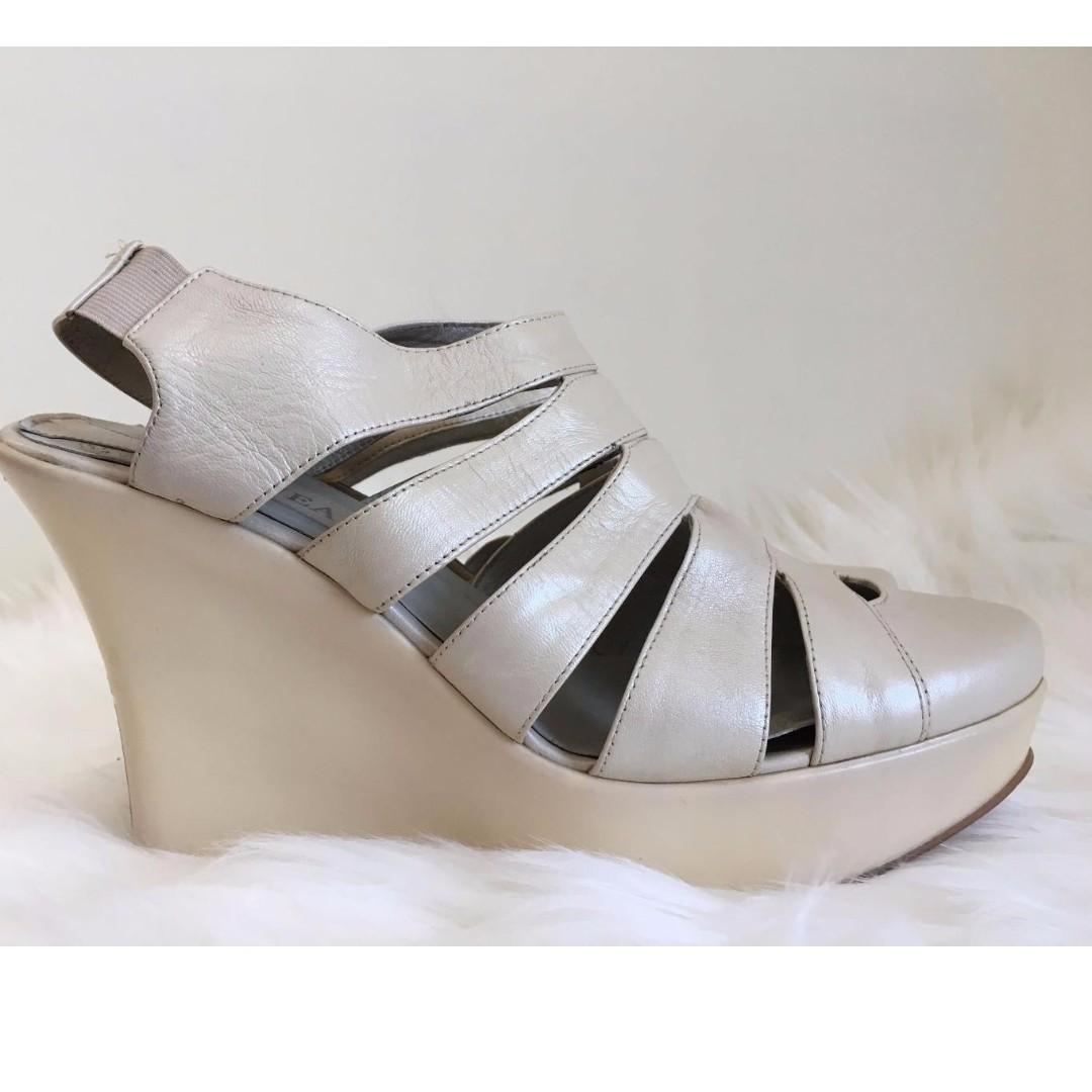 Leather Gladiator Platform Sandals