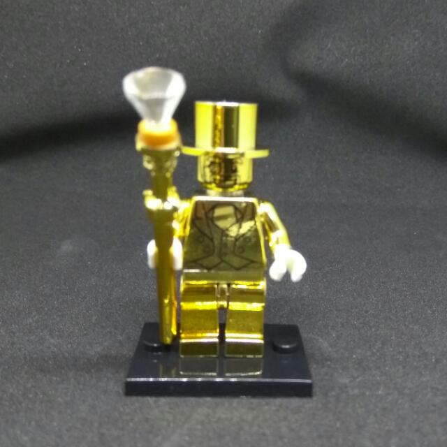 Lego Compatible Mr Gold Minifigure, Toys & Games, Bricks & Figurines ...
