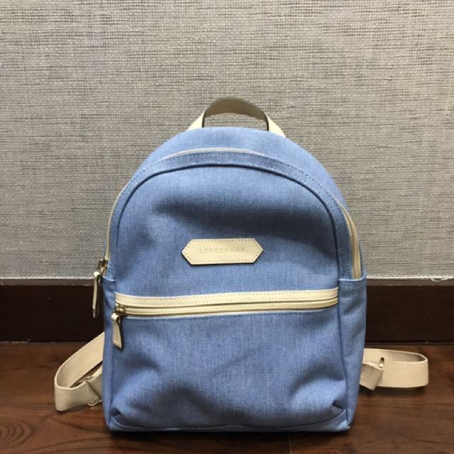ORIGINAL Longchamp Denim Backpack