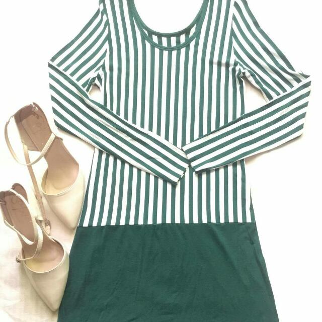 Longsleeves Stripes Dress