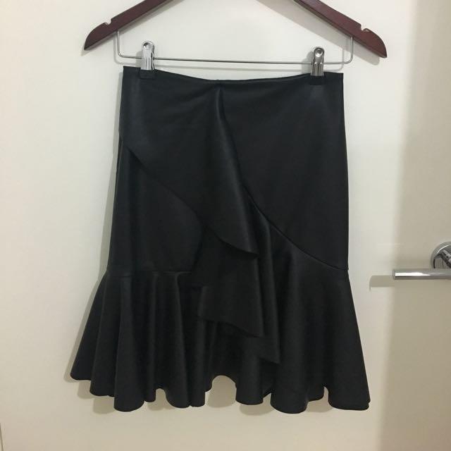 Lover The Label Black Asymmetrical Skirt Sz 6
