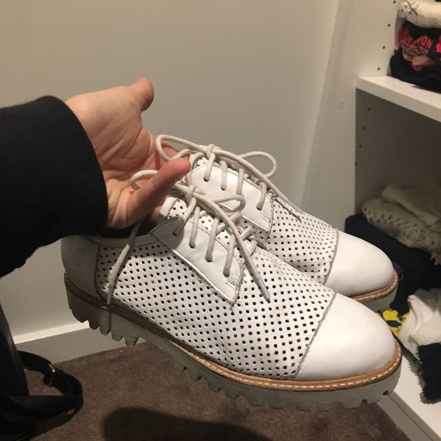 Midas White Women's Lace Ups