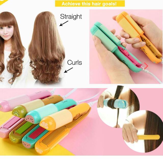Mini Hair Straightener & Curler