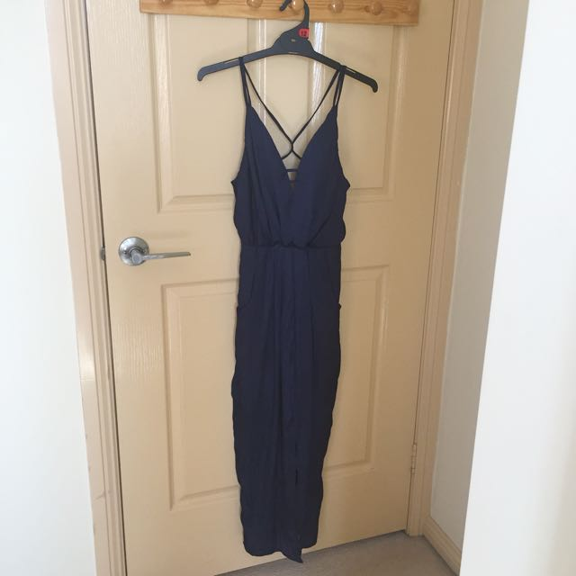 Navy Mid Length Dress