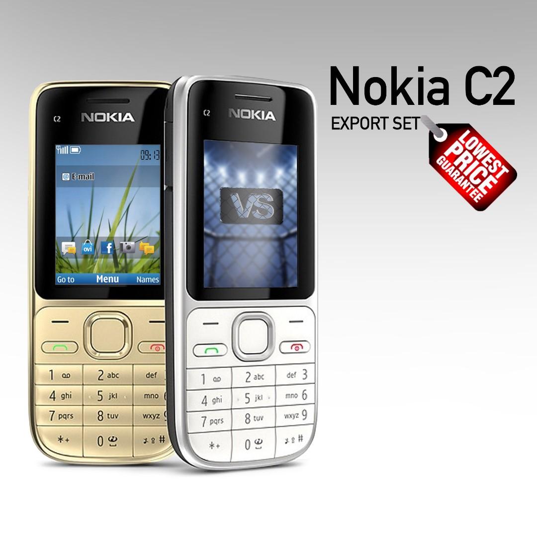 Nokia C2-01 3G GSM(Export)(Original Authentic) Full Accessories
