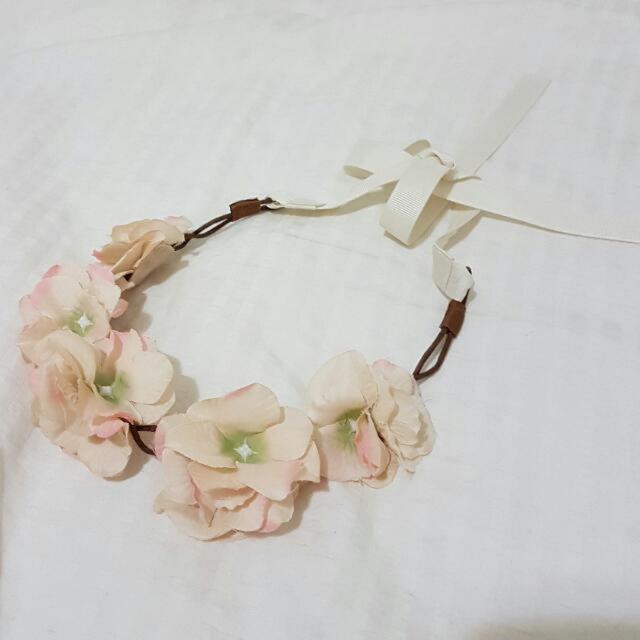 Nude Cream Floral Headpiece