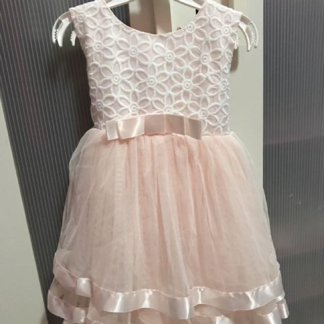 Peach Gown 2-3y