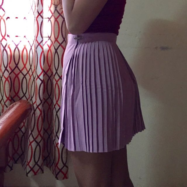 Pleated Lavender Skirt