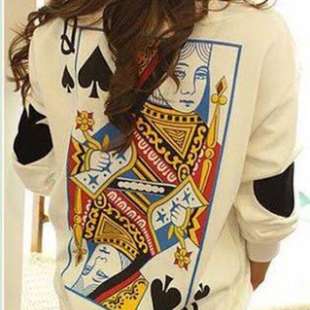 PRICE DROP Queen Of Spades Sweater (sz S)