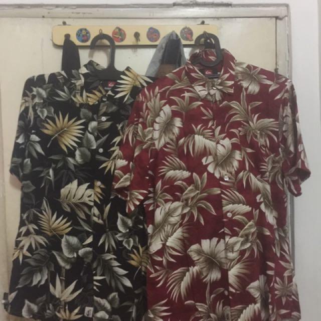 Quicksilver Shirt Hawaii 2017 baru!