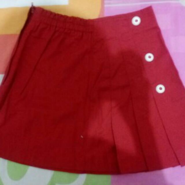 Red Lesenpants Kids Skirt