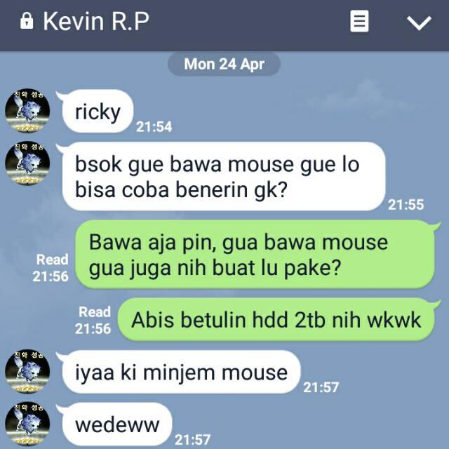 Service Mouse HP A3N Done Testimoni