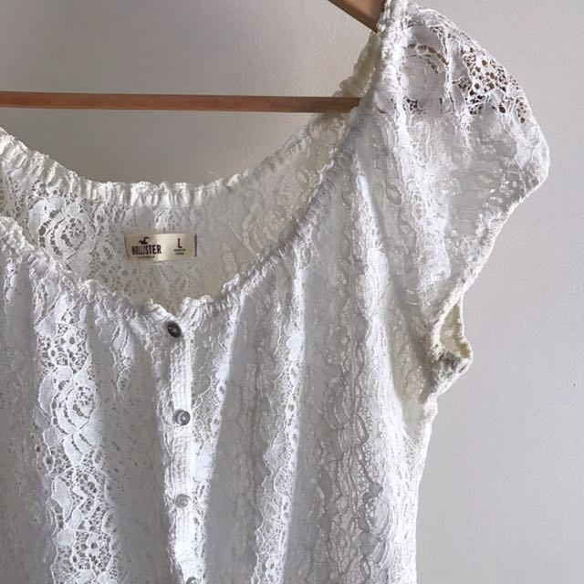 Size L Hollister Lace Blouse