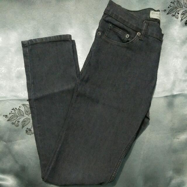 [Reprice] Skinny Jeans (Abu-abu Tua)
