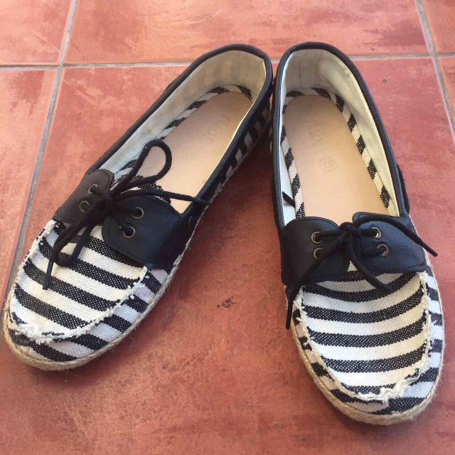 Striped B&W Espadrilles from Rubi Shoes