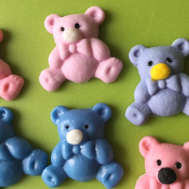 Teddy Bear Cupcake Toppers 12 Pieces.