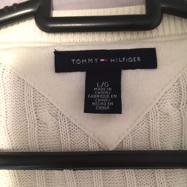 Tommy Hilfiger Sweater Size L Cream