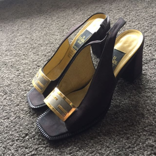 81f12dfd0fdd VINTAGE FENDI HEELS, Luxury, Apparel on Carousell