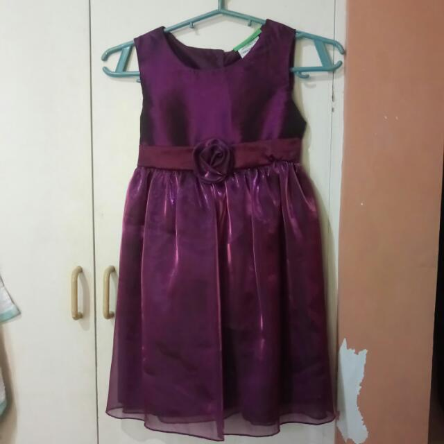 Violet Dress For Kids 3-5yo