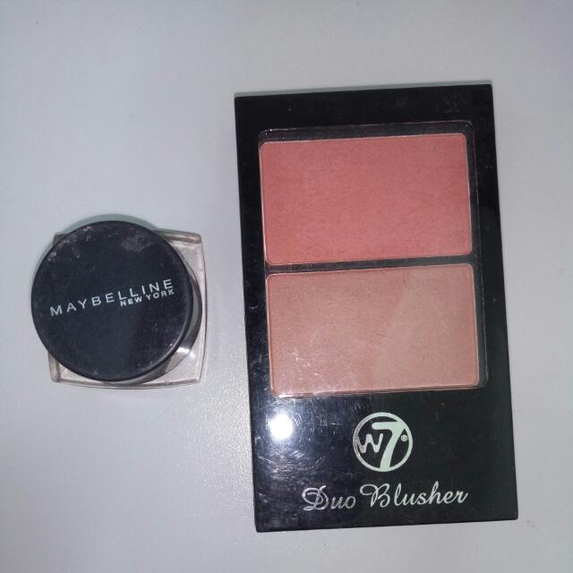 W7 Duo Blusher + Maybeline Eyeliner Brown Gel (Bonus)