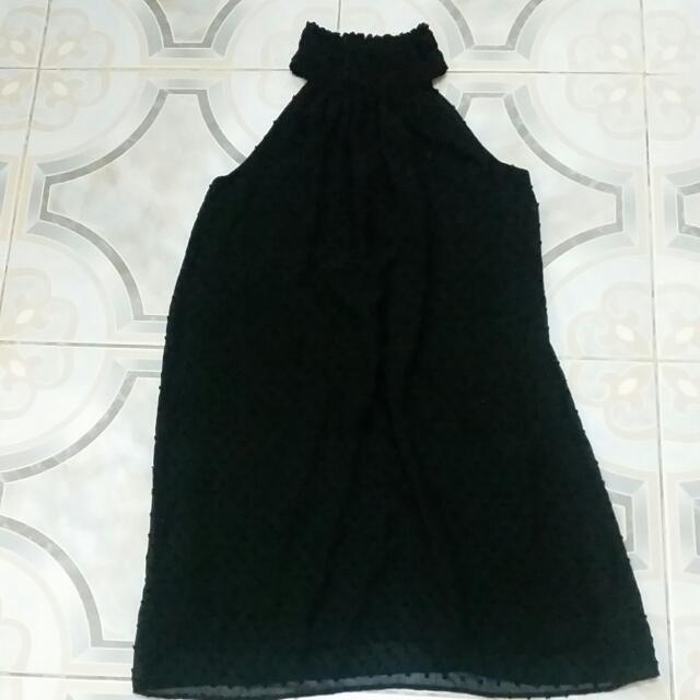 Zara BLACK DRESS (Belt Not Included)