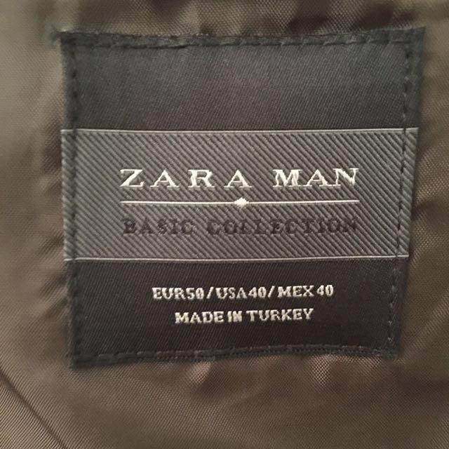 Zara黑色修身西裝 size50