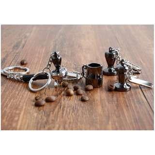 ONLY 1PCS EACH DESIGN LEFT! Mini Coffee Portafilter Tamper Keychain Keyring Accessories