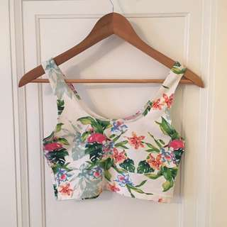 AA Tropical Stretch Crop Tank