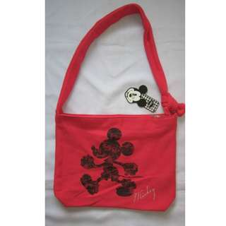 Auth. Disney's Mickey Mouse Torba Bag by BUTIK- RED
