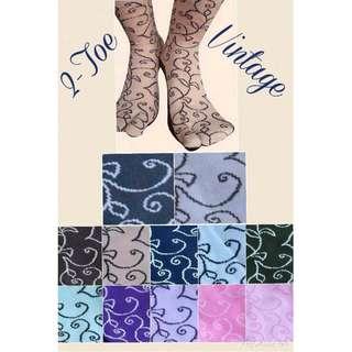 2-Toe Vintage Socks