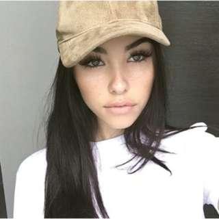 Nude Suede Hat