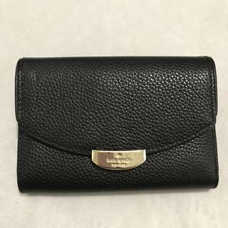 "Kate Spade Soft Leather Wallet ""Mulberry Street Black"""