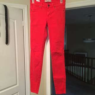 Coral Rich & Skinny Jeans